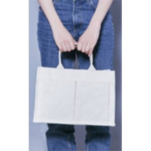 使いやすいアイボリーのシンプルトートバッグの紹介画像4