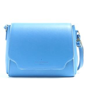 かぶせフタ付♪5色カラーのミニショルダーバッグ/ブルー