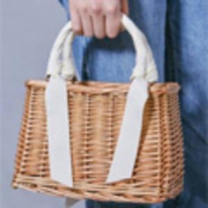 可愛いバスケットタイプ!カゴ素材リボンスカーフ...の紹介画像5