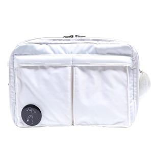 斜めかけにぴったり♪ポケットいっぱいのビジネスバッグ仕様のバッグ/アイボリー