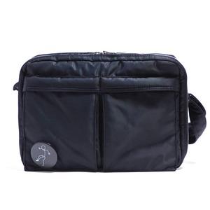 斜めかけにぴったり♪ポケットいっぱいのビジネスバッグ仕様のバッグ/ブラック