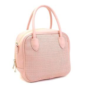 全10色♪柔らかいメッシュ素材のスクエアハンドバッグS/ピンク