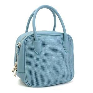 全10色♪柔らかいメッシュ素材のスクエアハンドバッグS/ブルー