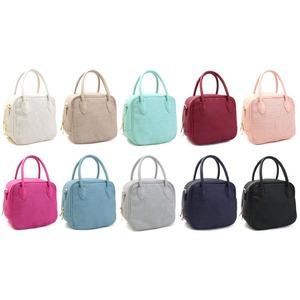 全10色♪柔らかいメッシュ素材のスクエアハンドバッグS/ブラック