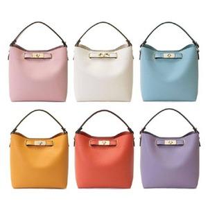 全6色♪短めにも斜め掛けにも使いやすいシンプルショルダーバッグ/ダークオレンジ