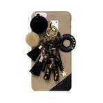 MrH(ミスターエイチ)スマホスキニーケース/ポポベビー ラブ&ピース(ブラック) iphone7plus
