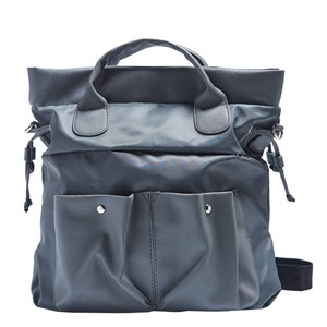 ビジネスで使える!ポケット付軽くて丈夫なレディースバッグ/グレイ