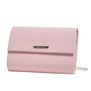人気デザイン♪上品サイズのクラッチ&ショルダーバッグ/ピンク