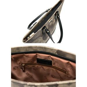PRIMA CLASSE(プリマクラッセ) PSH7-6114 切り替え素材のトートバッグ (グレイ)