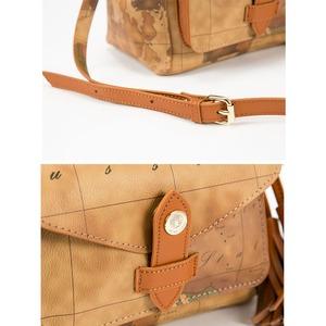 PRIMA CLASSE(プリマクラッセ) PSH8-5119 前ポケット付巾着型ショルダーバッグ (ブラウン)
