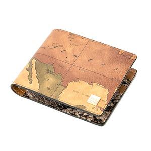 PRIMACLASSE(プリマクラッセ)PSW8-2135スネーク仕様二つ折り財布(ブラウン)