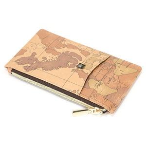 PRIMACLASSE(プリマクラッセ)PSW8-2137パスポートが入るサイズ薄型ファスナー長財布(ブラウン)