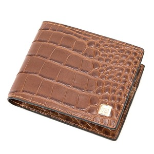 PRIMACLASSE(プリマクラッセ)PSW9-2138クロコ型押しレザー二つ折り財布(ブラウン)