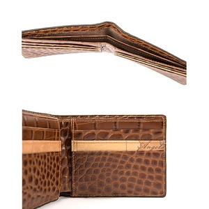 PRIMA CLASSE(プリマクラッセ)PSW9-2138 クロコ型押しレザー二つ折り財布 (ブラウン)