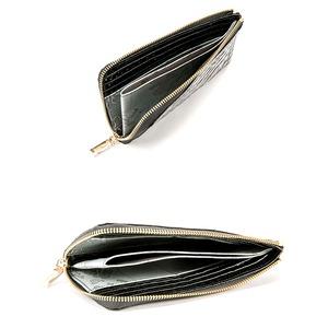 PRIMA CLASSE(プリマクラッセ)PSW9-2139 クロコ型押しレザーラウンドジップ長財布(ブラック)