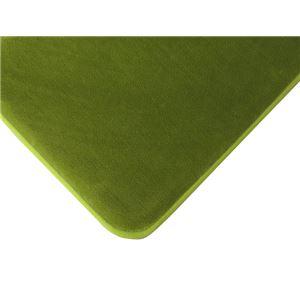 低反発高反発フランネルラグマット 190×190cm 正方形 ライムグリーン LM-101