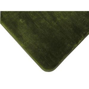 低反発高反発フランネルラグマット 190×240cm グリーン LM-101
