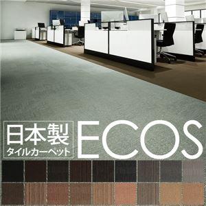 スミノエ タイルカーペット 日本製 業務用 防炎 撥水 防汚 制電 ECOS SG-373 50×50cm 20枚セット プレーンタイプの詳細を見る