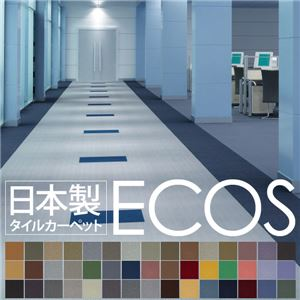 スミノエ タイルカーペット 日本製 業務用 防炎 撥水 防汚 制電 ECOS LP-2043 50×50cm 20枚セットの詳細を見る