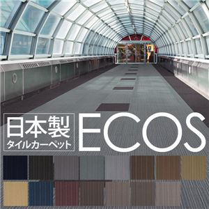 スミノエ タイルカーペット 日本製 業務用 防炎 撥水 防汚 制電 ECOS LP-3003 50×50cm 20枚セットの詳細を見る
