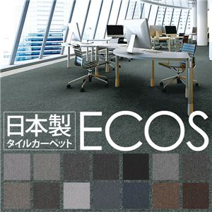 スミノエ タイルカーペット 日本製 業務用 防炎 撥水 防汚 制電 ECOS LP-4005 50×50cm 20枚セットの詳細を見る