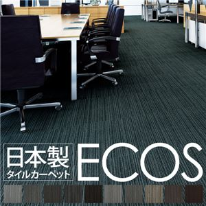 スミノエ タイルカーペット 日本製 業務用 防炎 撥水 防汚 制電 ECOS LX-1130 50×50cm 20枚セットの詳細を見る