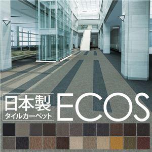 スミノエ タイルカーペット 日本製 業務用 防炎 撥水 防汚 制電 ECOS ID-6607 50×50cm 20枚セットの詳細を見る