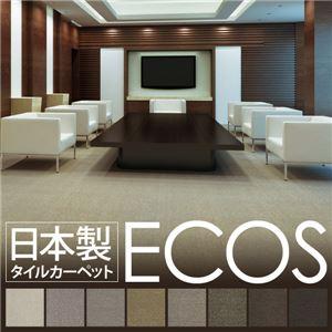スミノエ タイルカーペット 日本製 業務用 防炎 撥水 防汚 制電 ECOS ID-9004 50×50cm 16枚セットの詳細を見る