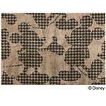 DISNEY ラグマット/絨毯 【MICKEY/Plover form RUG 140cm×200cm ブラウン】 日本製 スミノエ 〔リビング ダイニング〕