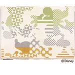 DISNEY ラグマット/絨毯 【MICKEY/Kika silhouette RUG 100cm×140cm グリーン】 日本製 スミノエ 〔リビング ダイニング〕