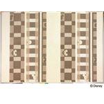 DISNEY ラグマット/絨毯 【MICKEY/Texture line RUG 140cm×200cm アイボリー】 日本製 スミノエ 〔リビング ダイニング〕