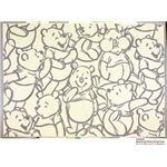 スミノエ DISNEY DRP-1013ラグ POOH/Smile RUG 100×140cm グレー 【日本製】