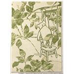 DISNEY ラグマット/絨毯 【POOH/Fiore RUG 100cm×140cm グリーン】 日本製 スミノエ 〔リビング ダイニング〕