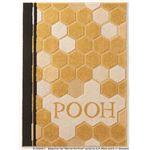 DISNEY ラグマット/絨毯 【POOH/Honey RUG 100cm×140cm イエロー】 日本製 スミノエ 〔リビング ダイニング〕