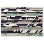 DISNEY ラグマット/絨毯 【MICKEY/Cross cutting RUG 100cm×140cm パープル】 日本製 スミノエ 〔リビング ダイニング〕