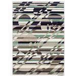 DISNEY ラグマット/絨毯 【MICKEY/Cross cutting RUG 140cm×200cm パープル】 日本製 スミノエ 〔リビング ダイニング〕