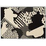 DISNEY ラグマット/絨毯 【POOH/Collage RUG 130cm×190cm ブラック】 日本製 スミノエ 〔リビング ダイニング〕