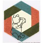 DISNEY ラグマット/絨毯 【POOH/Honey pot RUG 95cm×110cm ブルー】 日本製 スミノエ 〔リビング ダイニング〕
