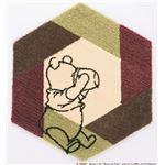 DISNEY ラグマット/絨毯 【POOH/Honey pot RUG 95cm×110cm ピンク】 日本製 スミノエ 〔リビング ダイニング〕