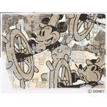 DISNEY ラグマット/絨毯 【MICKEY/Steam RUG 100cm×140cm ベージュ】 日本製 スミノエ 〔リビング ダイニング〕