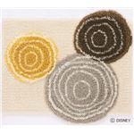 DISNEY ラグマット/絨毯 【MICKEY/Ring MAT 60cm×70cm ベージュ】 日本製 スミノエ 〔リビング ダイニング〕