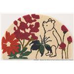 DISNEY ラグマット/絨毯 【POOH/Bloom MAT 50cm×80cm ピンク】 日本製 スミノエ 〔リビング ダイニング〕