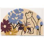 DISNEY ラグマット/絨毯 【POOH/Bloom MAT 50cm×80cm パープル】 日本製 スミノエ 〔リビング ダイニング〕