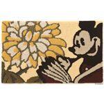 DISNEY ラグマット/絨毯 【MICKEY/Petal MAT 50cm×80cm ベージュ】 日本製 スミノエ 〔リビング ダイニング〕