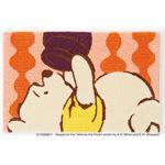 DISNEY ラグマット/絨毯 【POOH/Peek MAT 50cm×80cm オレンジ】 日本製 スミノエ 〔リビング ダイニング〕