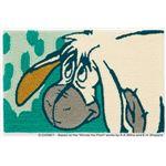DISNEY ラグマット/絨毯 【POOH/Muse MAT 50cm×80cm グリーン】 日本製 スミノエ 〔リビング ダイニング〕