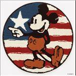 DISNEY ラグマット/絨毯 【MICKEY/First star MAT 60cm×60cm レッド】 日本製 スミノエ 〔リビング ダイニング〕