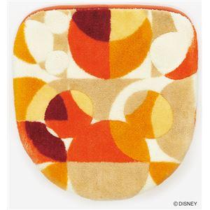 スミノエ DISNEY DTM-5004トイレフタ MICKEY/semicircle FUTA COVER 48×49cm レッド - 拡大画像
