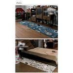 マイクロウィルトン織り キッチンマット (PX700) 50×200cm グレー