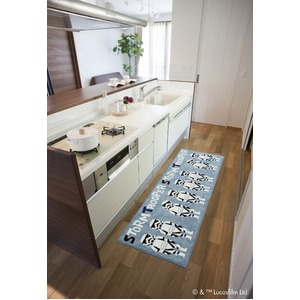 スミノエ スターウォーズ キッチンマット ストームトルーパー DMW-5001 45×120cm 【日本製】 - 拡大画像